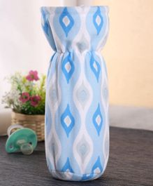 Babyhug Feeding Bottle Cover Ogee Print Large - Blue