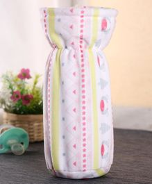 Babyhug Feeding Bottle Cover Bear Print Large - Pink