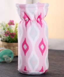 Babyhug Feeding Bottle Cover Ogee Print Medium - Pink
