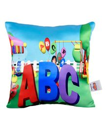 Ultra Playschool ABC Digital Printed Cushion  - Multicolor