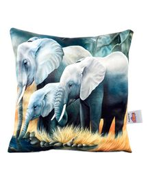 Ultra Gigantic Elephant Digital Print Cushion  - Grey