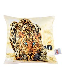Ultra Cheetah Animal Printed Cushion  - Multicolor