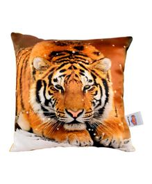 Ultra Royal Tiger Digital Print Cushion  - Yellow
