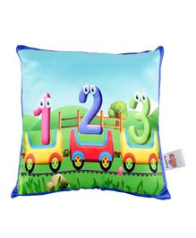Ultra Toy Train Kids Digital Print Cushion  - Multicolor