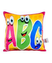 Ultra Expressive Alphabet ABC Printed Cushion  - Multicolor