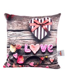 Ultra Mystical Love Printed Cushion  - Brown