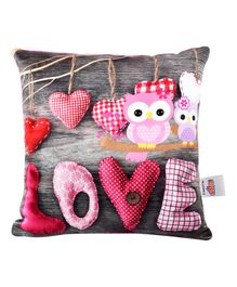 Ultra Expressive Love Printed Cushion  - Multicolor