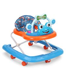 Froggy Design Musical Baby Walker - Blue