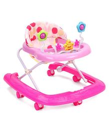 Baby Walker With Seven Wheels - Pink