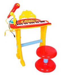 Toys Bhoomi Buddy Fun Electronic Symphonic Piano With Detachable Microphone - Red & Yellow
