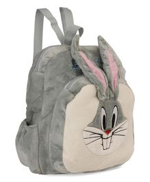 Dimpy Stuff Bugs Bunny Plush School Bag Grey - Height 14 inches