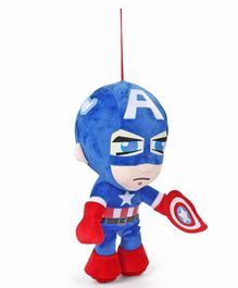 Avengers Captain America Plush Figure Red & Blue - Height 45 cm