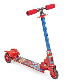 Marvel Spider Man Three Wheeler Scooter - Blue & Red