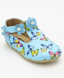 Cute Walk by Babyhug Bellies Pearl Embellishment - Blue & Multi Colour