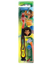 aquawhite Jiggle Wiggle Toothbrush With Mowgli Image - Red & Black