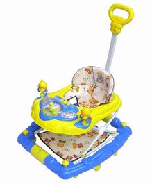 Funride 6 in 1 Baby Walker With Parental Handle - Yellow