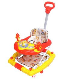 Funride 6 in 1 Baby Walker With Parental Handle - Red