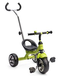 Babyhug Pluto Metal Tricycle With Parent Push Handle - Green