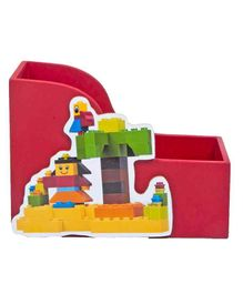 Li'll Pumpkins Small Wooden Book Shelf Lego Theme - Red