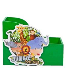 Li'll Pumpkins Small Wooden Book Shelf Jungle Theme - Green