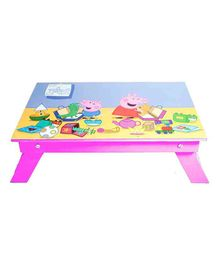 Li'll Pumpkins Folding Study Table Peppa Pig Print - Fuchsia