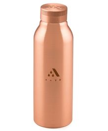 Aayu Smart Pure Copper Seamless Bottle Brown - 500 ml