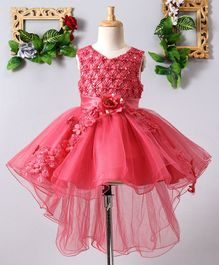 5a1be389b Mark & Mia Flower & Pearls Embellished Sleeveless Net Dress - Pink