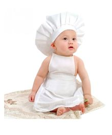 Babymoon Master Chef Baby Photography Costume Set of 2 - White