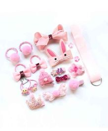 BabyMoon Photo Prop Head Accessory Set Pink - 18 Pieces