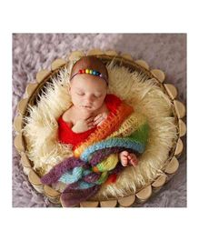 Babymoon Stretchble Swaddle Wrap New Born Bay Photography Prop - Multi