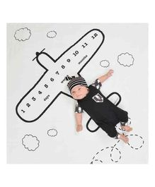 Babymoon Milestone Bedsheet New Born Baby Photography Shoot Props Costume-Aeroplane