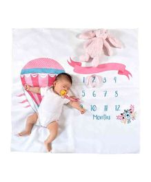 Babymoon Milestone Bedsheet New Born Baby Photography Shoot Props Costume - Air Balloon