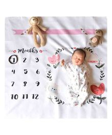 Babymoon Milestone Bedsheet New Born Baby Photography Shoot Props Costume - Flower Circle