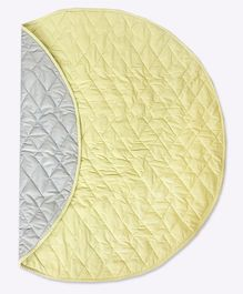 Masilo-Linen For Littles Circular Quilted Play Mat - Light Yellow