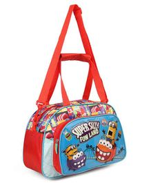 Minion Super Silly Duffle Bag Red & Blue - Height 8.2 inches