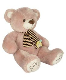 Dhoom Soft Toys Teddy With Muffler Light Brown - Height 50 cm