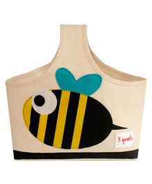 3 Sprouts Caddy Bag Bee Print - Cream Black & Yellow