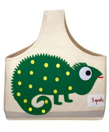 3 Sprouts Caddy Bag Iguana Print - Cream & Green