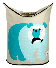 3 Sprouts Laundry Tote Bag Polar Bear Print - Blue