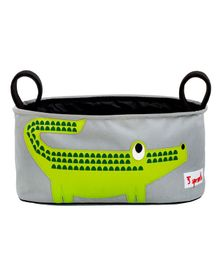 3 Sprouts Stroller Organiser Crocodile Print - Green