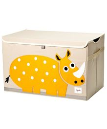 3 Sprouts Toy Chest Storage Rhino Print - Light Pink & Yellow