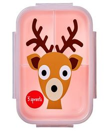 3 Sprouts Deer Print Lunch Box - Brown & Peach