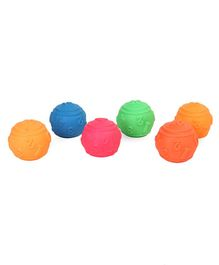 Kreative Kids Squeaky Bath Toys Ball Pack of 6 - Multi Colour
