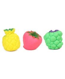 Kreative Kids Squeaky Bath Toys Fruits Pack Of 3 - Multicolour