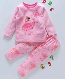 Kai Kai Ballerina Print Night Suit - Pink