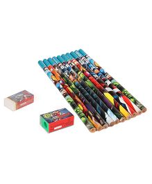 Apsara Marvel Avengers Pencils With Eraser & Sharpener - Set of 10