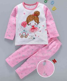 Kai Kai Fairy Print Night Suit - Pink