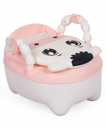 Animal Design Potty Chair With Lid - Peach