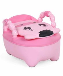 Animal Design Potty Chair With Lid - Pink