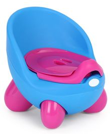 Potty Chair With Lid And High Backrest - Blue
